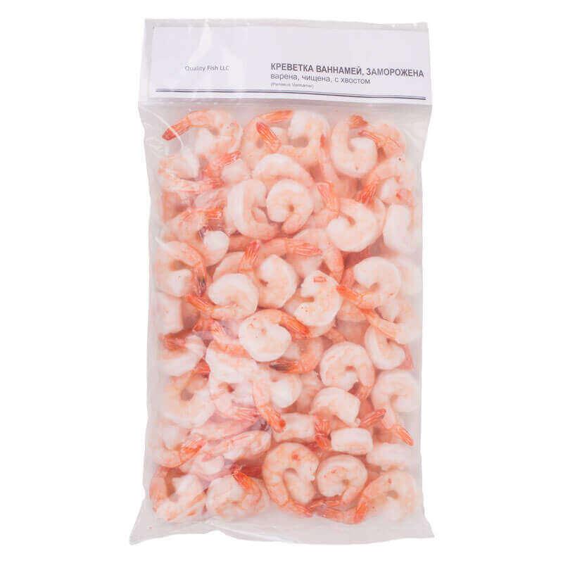 креветка очищенная с хвостом penaeus vannamei 31-40 quality fish llc 1кг
