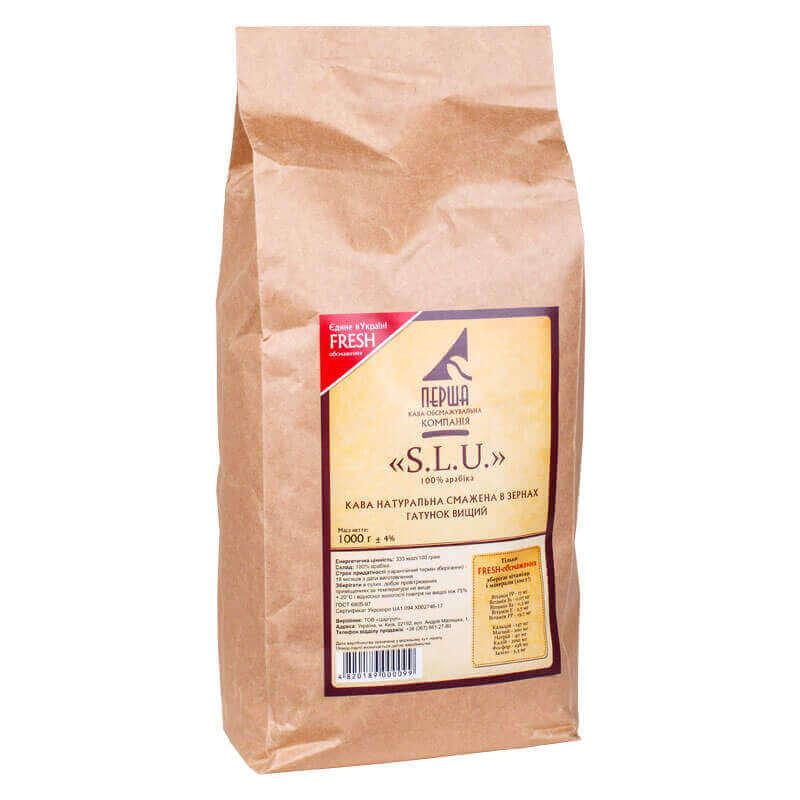 кофе натуральный жареный в зернах s.l.u. 1кг
