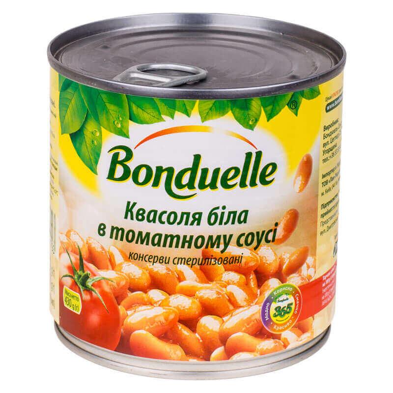 фасоль белая в томатном соусе bonduelle 430г