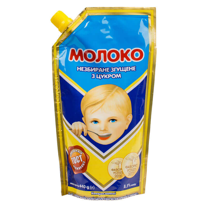 сгущенное молоко цельное с сахаром 8,5 дсту 4274:2003 пмкк 440г