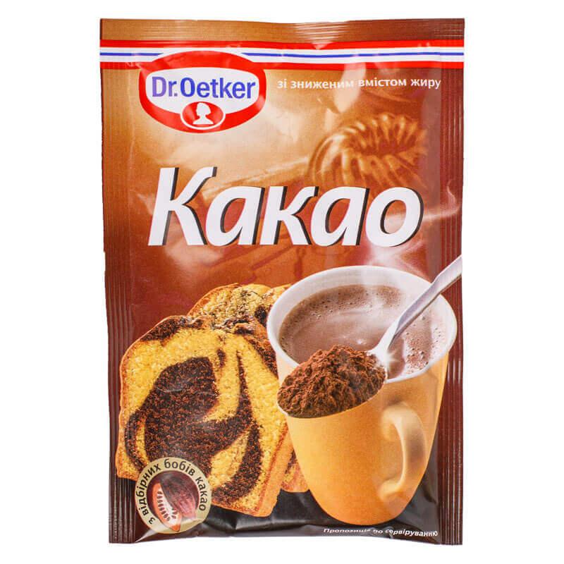 какао с пониженным содержанием жира 11% dr.oetker 50г