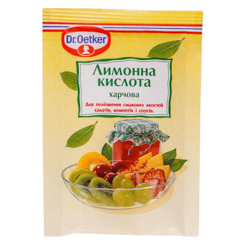 лимонная кислота dr.oetker 8г