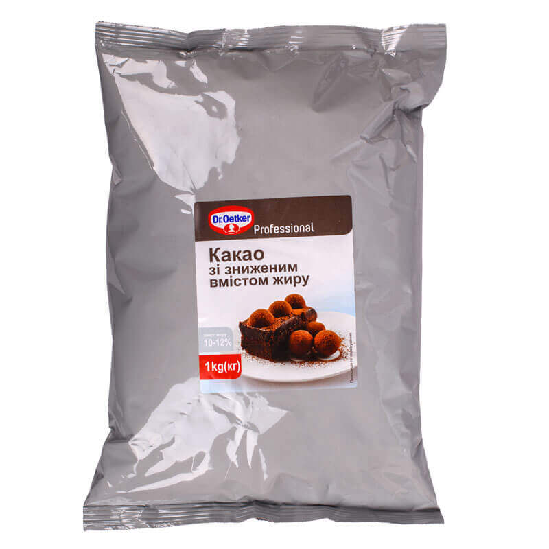 какао с пониженным содержанием жира dr.oetker professional 1кг