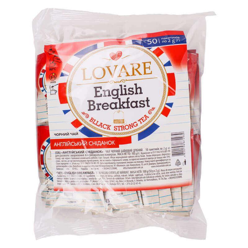 чай черный английский завтрак lovare