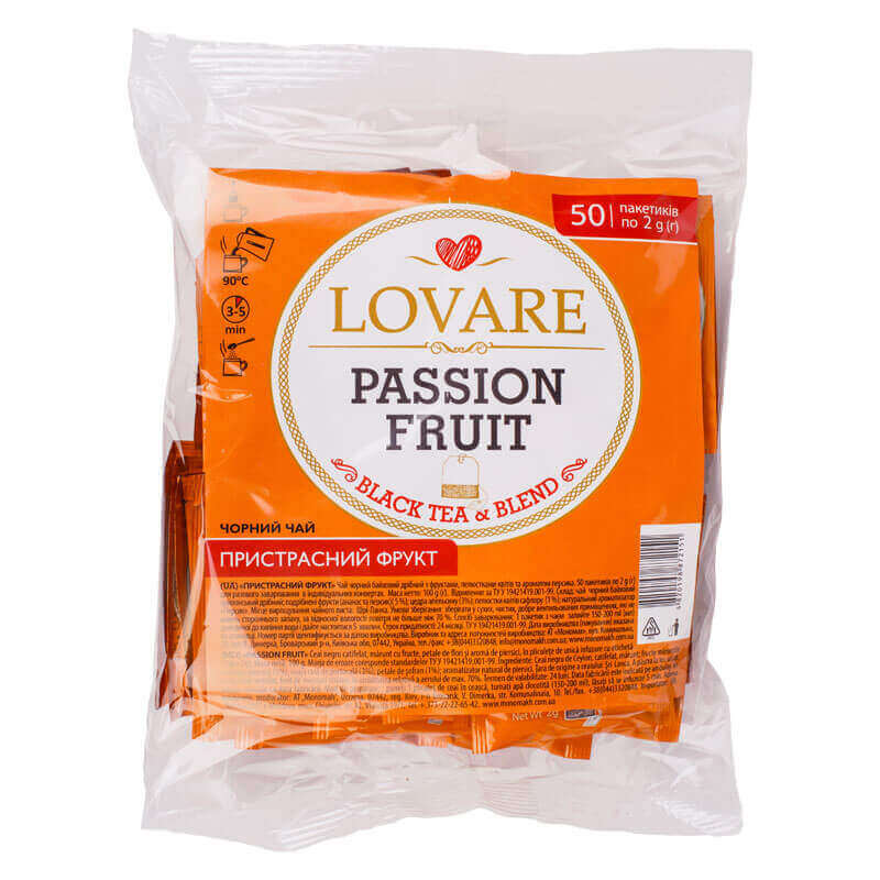 чай черный страстный фрукт lovare