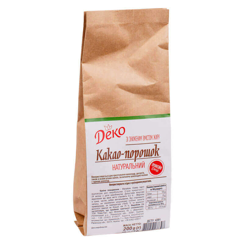 009307 какао-порошок натуральный деко 200г