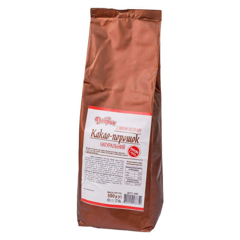 какао-порошок натуральный добрик 500г