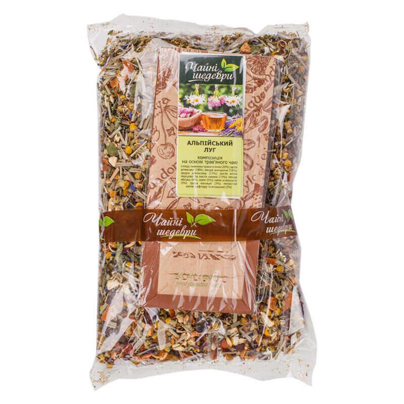 композиция на основе травяного чая альпийский луг чайные шедевры 250г