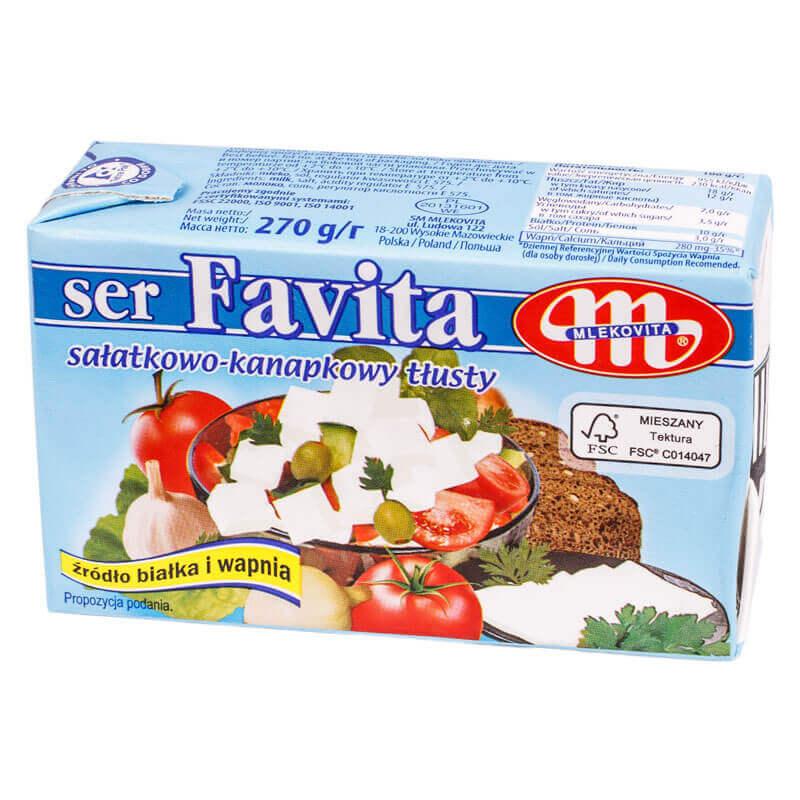 мягкий соленый сыр favita тм melkovita 270г