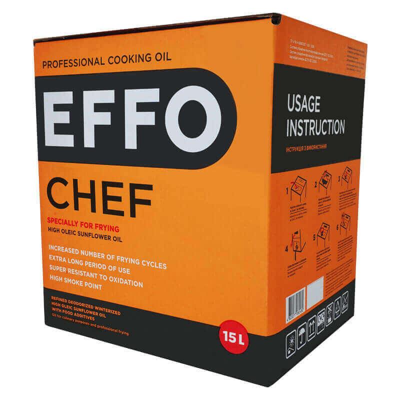 профессиональное кулинарное масло effo chef bag-in-box 15л