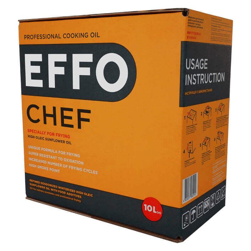 профессиональное кулинарное масло effo chef bag-in-box 10л