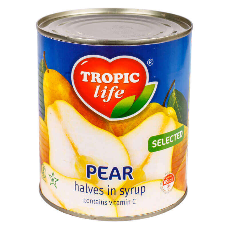 груши половинки в сиропе тм tropic life 820г