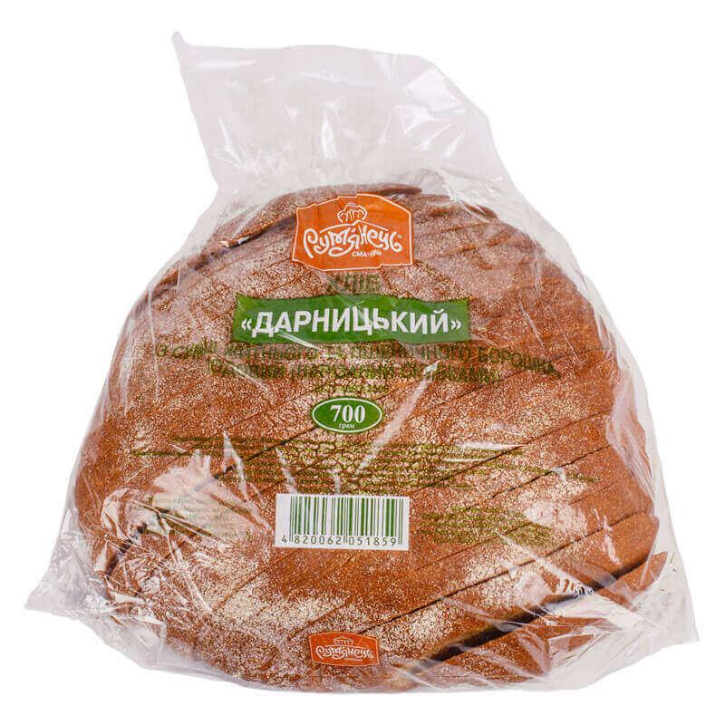 хлеб дарницкий свежий нарезанный ломтиками рум`янець 700г