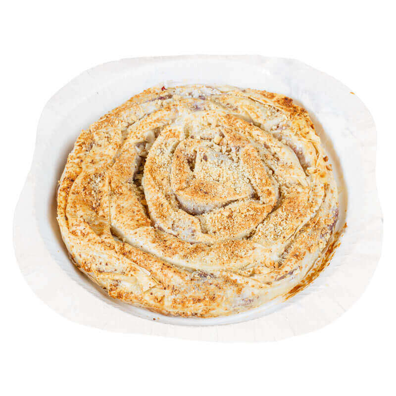 пирог балканский из вытяжного теста филло с вишней и заварным кремом valesto 550г