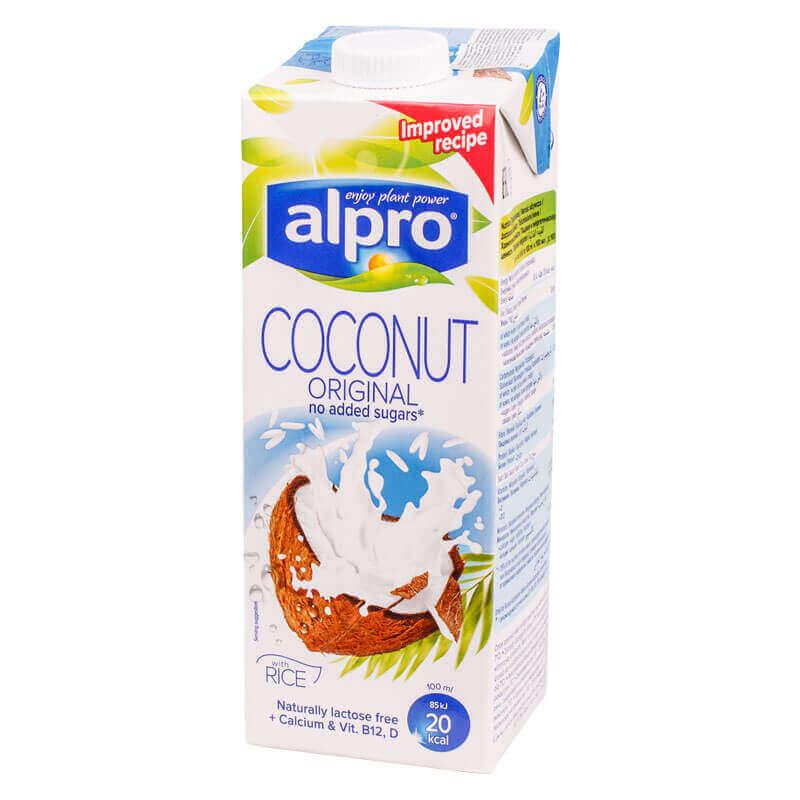 напиток кокосовый с рисом coconut original alpro 1л