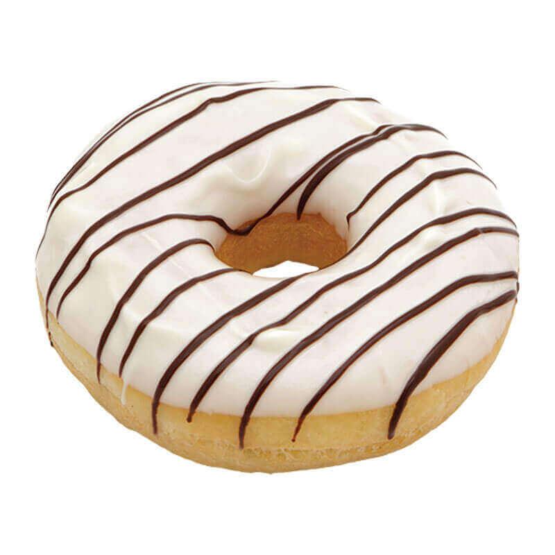 пончик donut с белой глазурью тм mantinga 55г