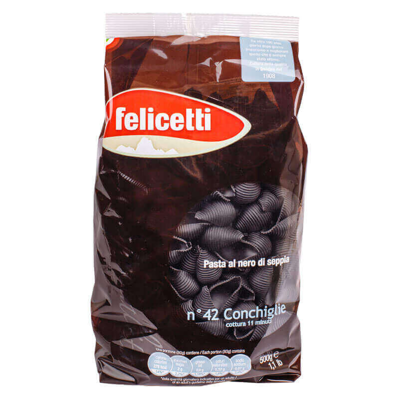 макароны конкилье с чернилами каракатицы felicetti 500г