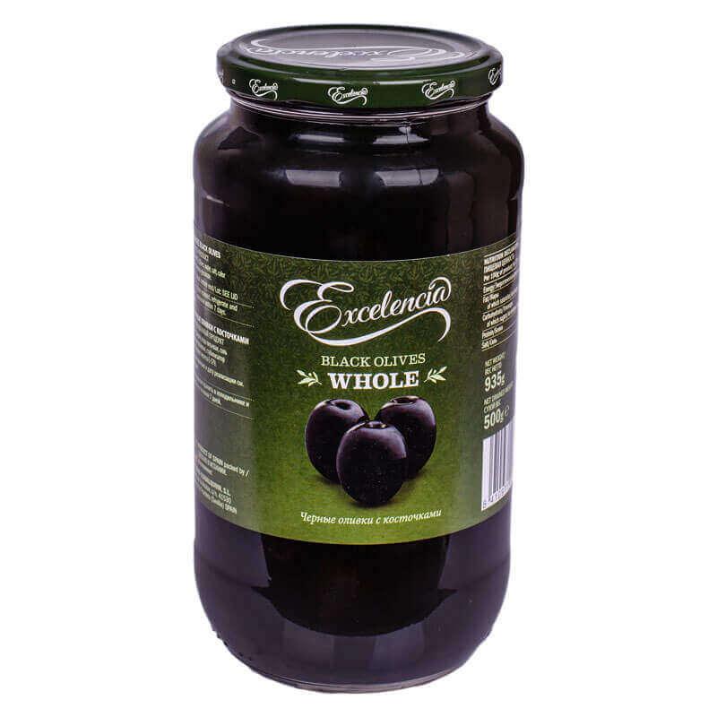 маслины с косточкой тм exelencia 935г