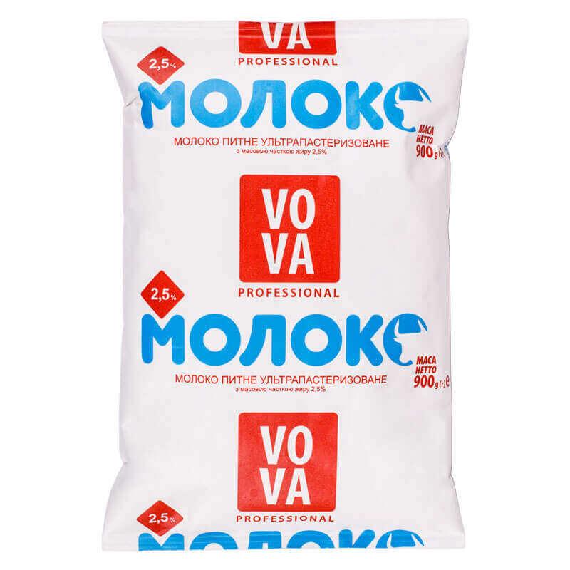 молоко питьевое ультрапастеризованное 2,5% жира тм vova 900г