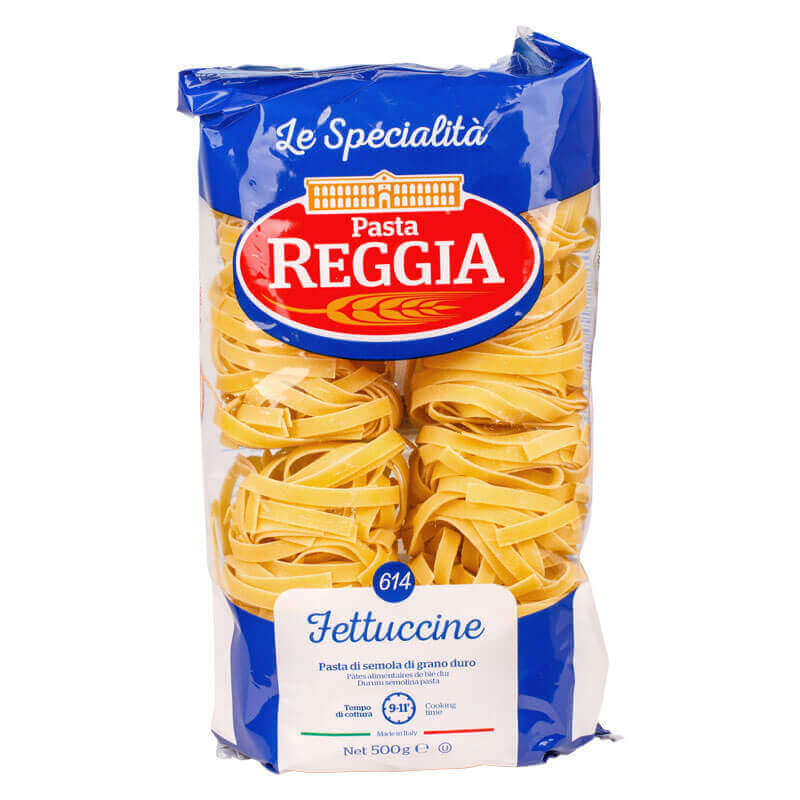 макароны из твердых сортов пшеницы 614 fettuccine паста в гнездах reggia 500г