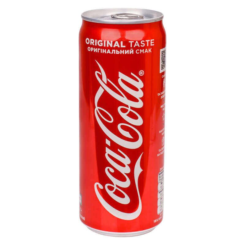 напиток безалкогольный сильногазированный coca-cola 330мл