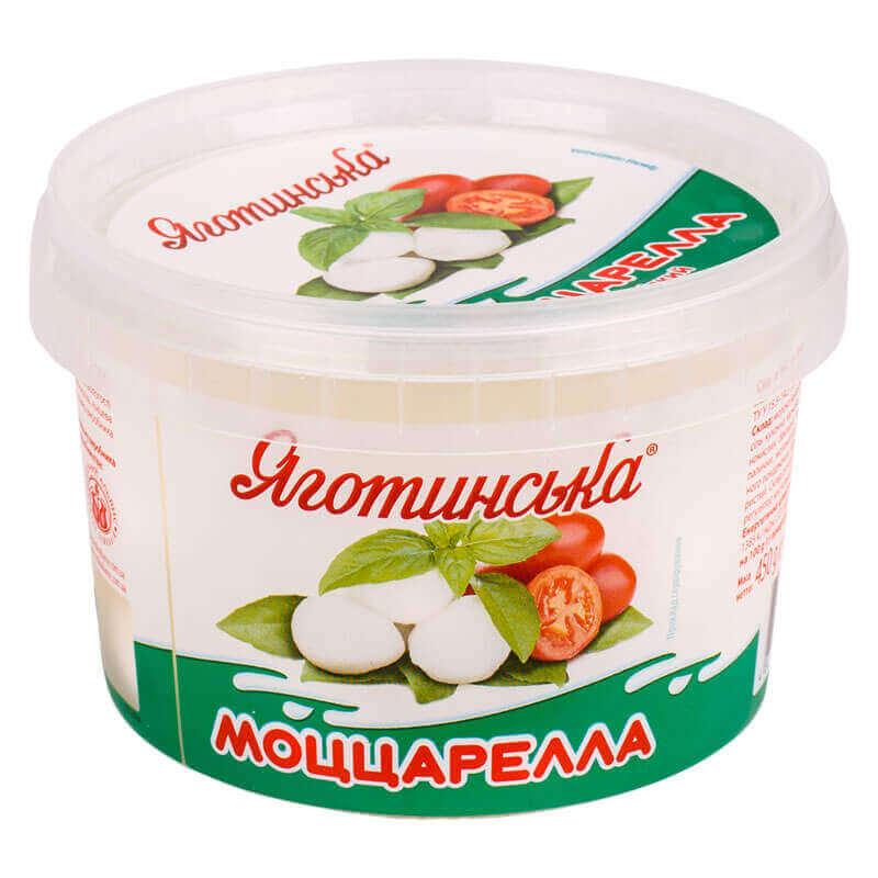 сыр мягкий моццарелла в рассоле мини тм яготинське 450г