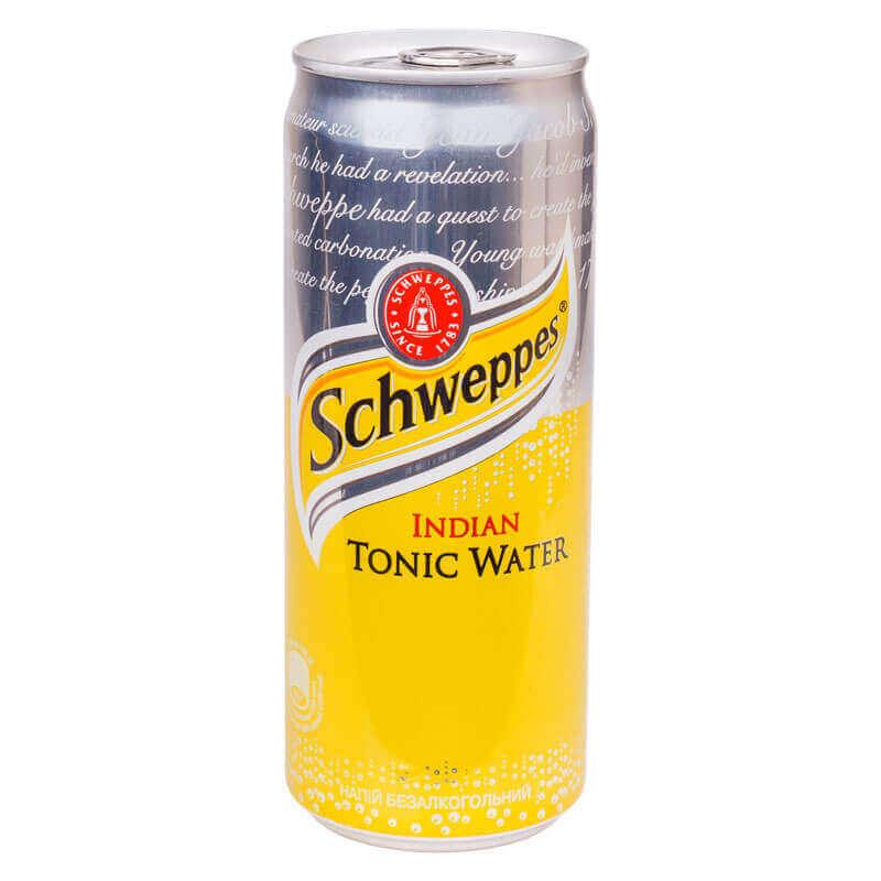 напиток безалкогольный сильногазированный schweppes indian tonic 330мл