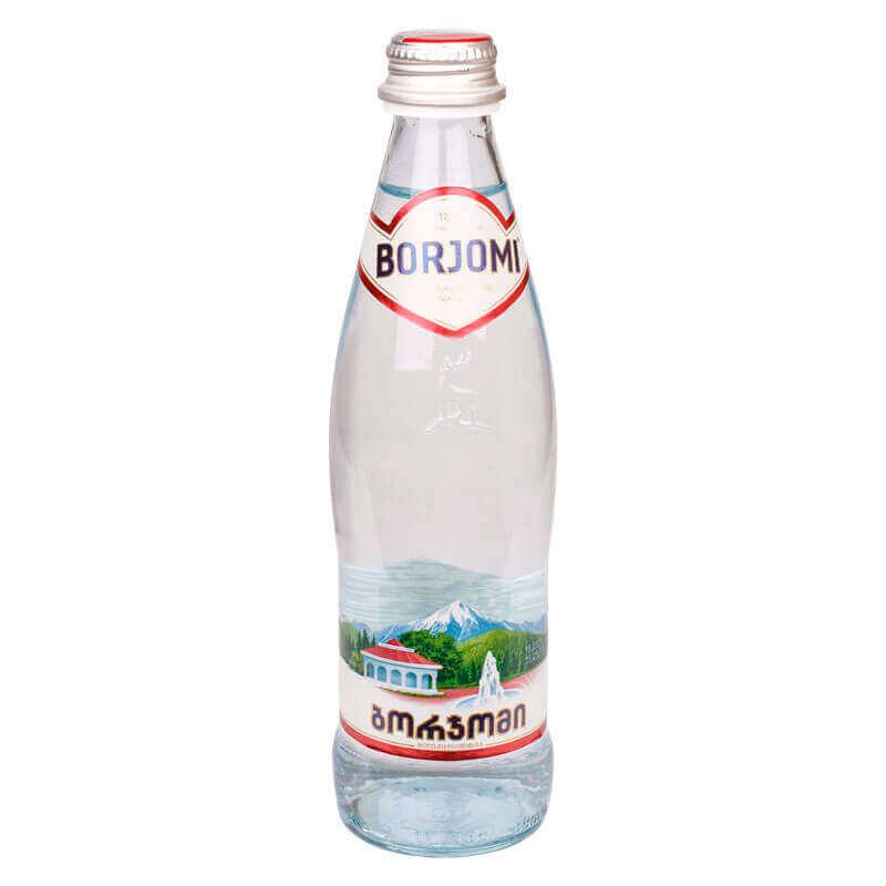 вода минеральная природная лечебно-столовая сильногазированная borjomi 330мл