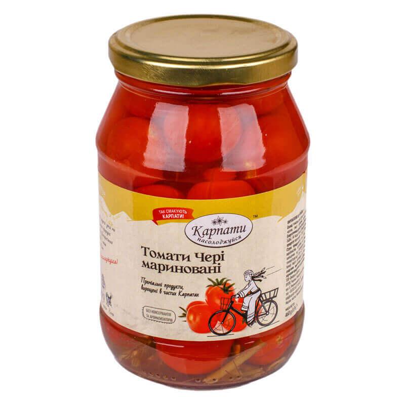 томаты черри маринованные карпати насолоджуйся 460г