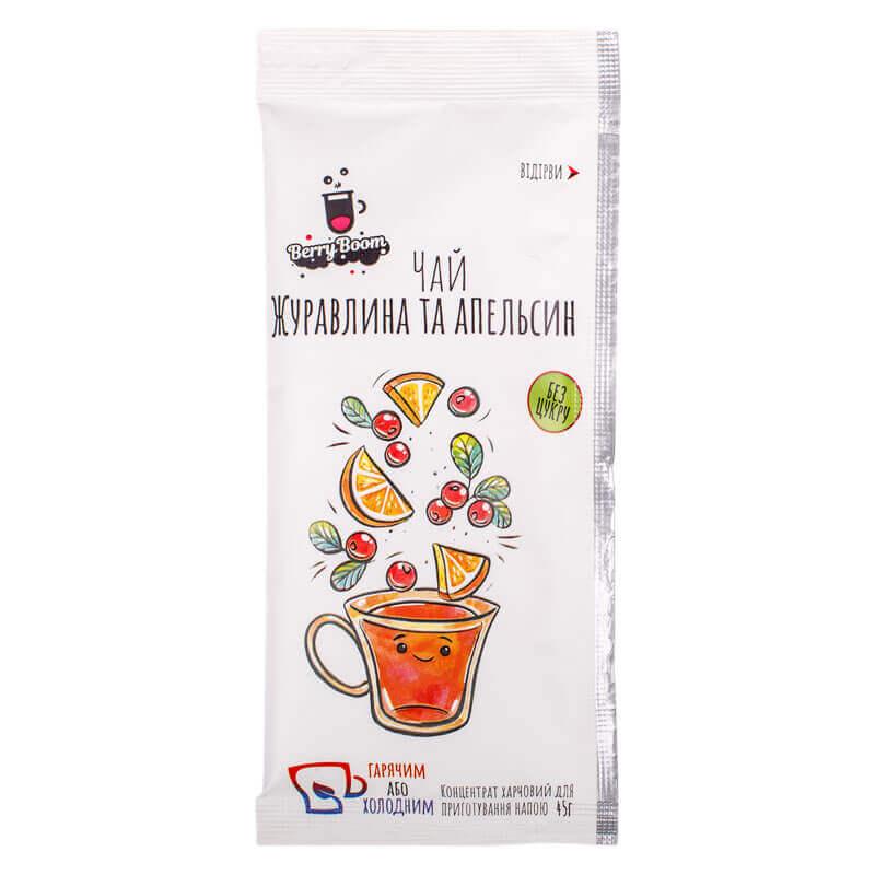 концентрат для приготовления напитка чай клюква и апельсин тм berryboom 45г
