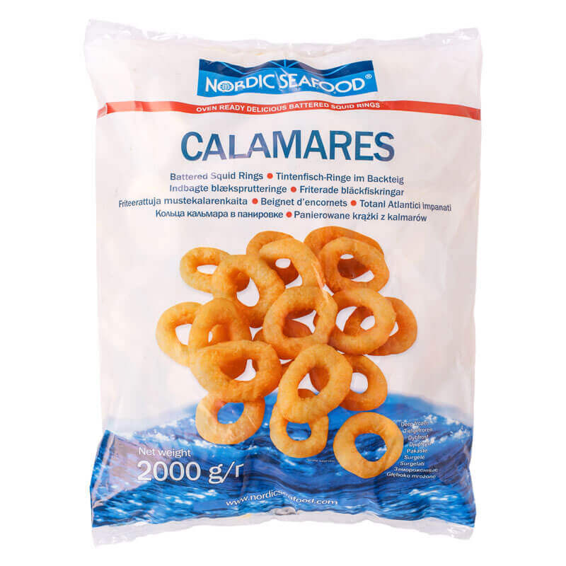 кольца кальмара в панировке тм nordic seafood 2кг