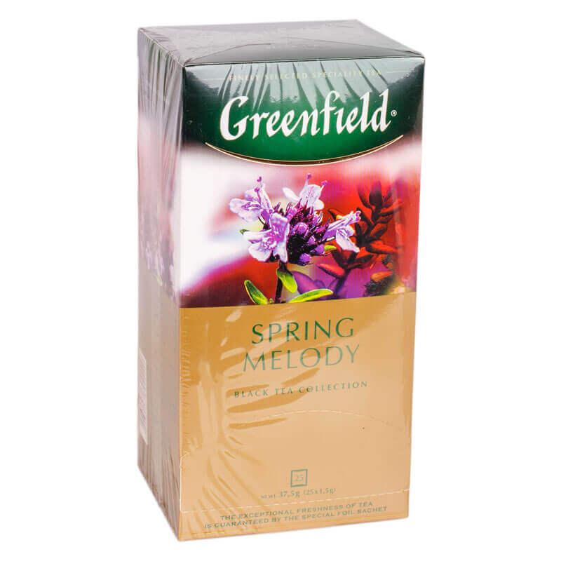 чай индийский черный байховый spring melody greenfield 25пакетиков