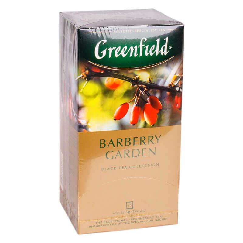 чай кенийский черный байховый с ягодами и ароматом барбариса barberry garden greenfield 25пакетиков