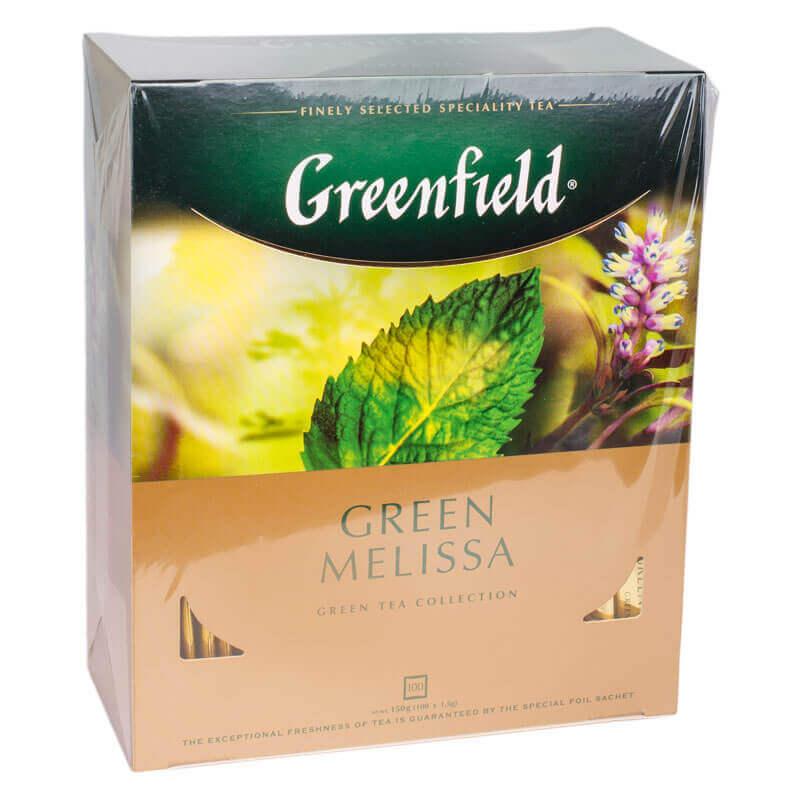 чай китайский зеленый байховый green melissa greenfield 100пакетиков