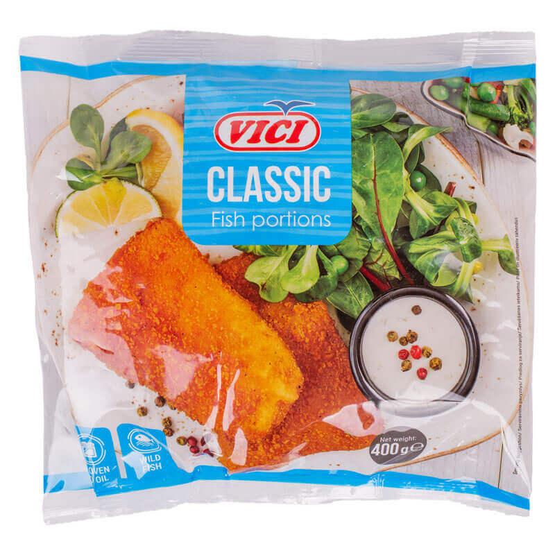 рыбные порции из филе рубленого в панировке vici 400г