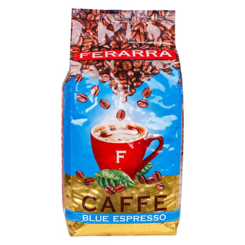 кофе натуральный жареный в зернах blue espresso ferarra 1кг