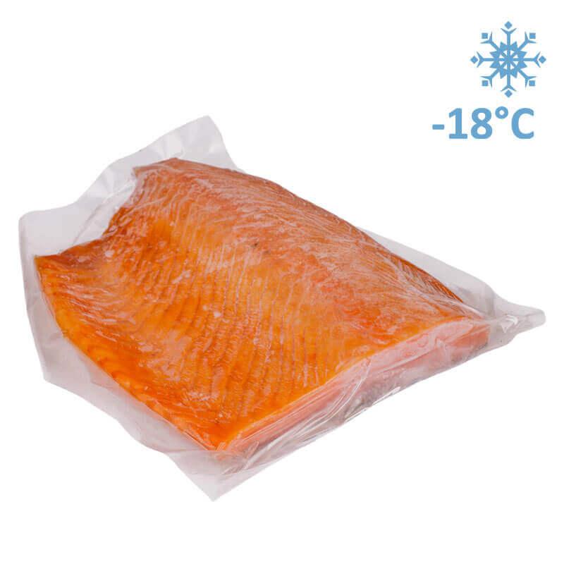 филе лосося холодного копчения на шкуре