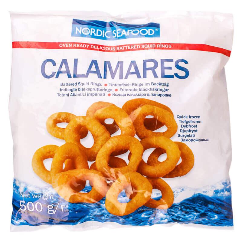 кольца кальмара в панировке тм nordic seafood 500г