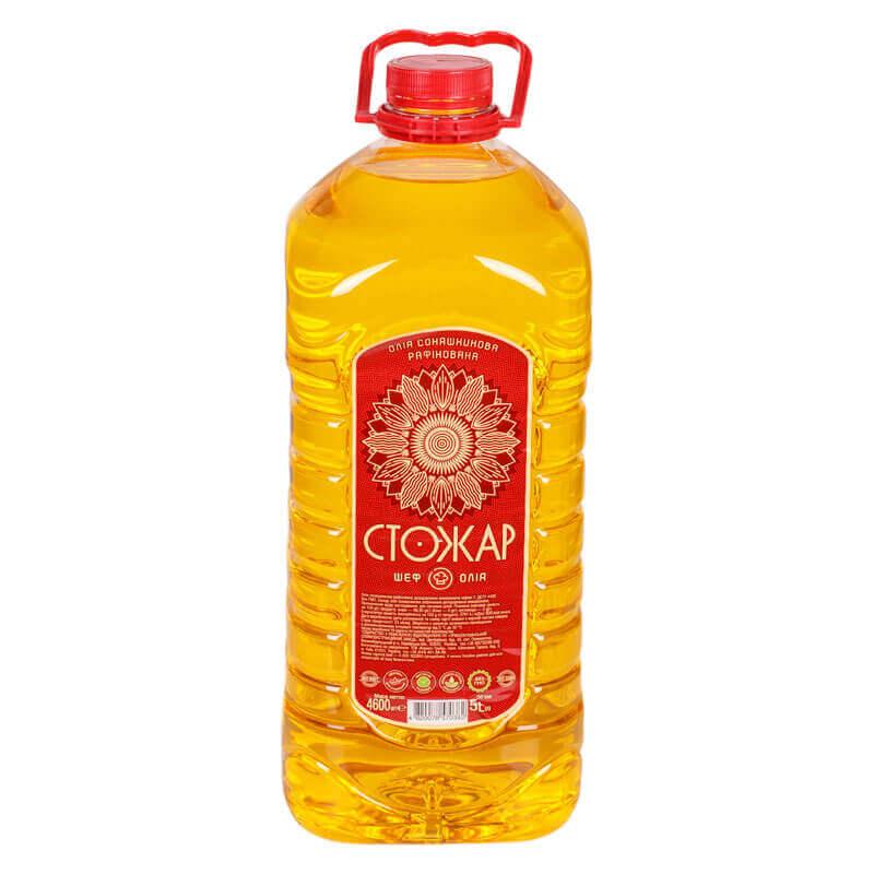 масло подсолнечное рафинированное марки п cтожар 5л