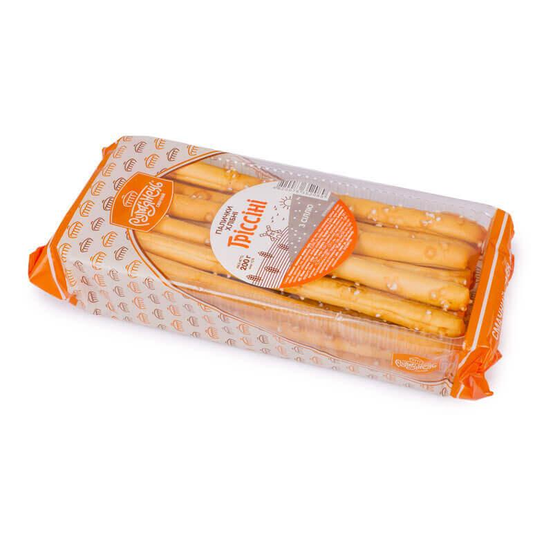 палочки хлебные гриссини с солью рум`янець 200г