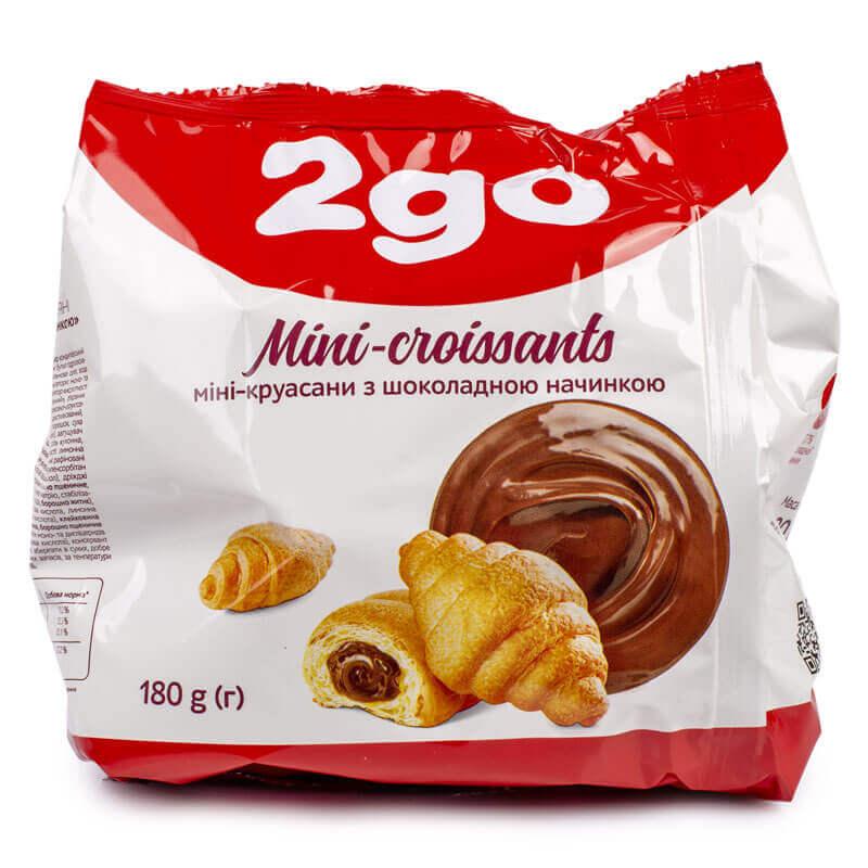 мини-круассаны с шоколадной начинкой тм 2go 180г