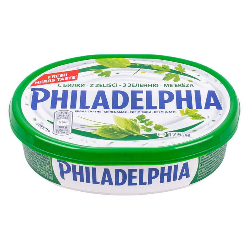 крем-сыр с зеленью 59% philadelphia 175г