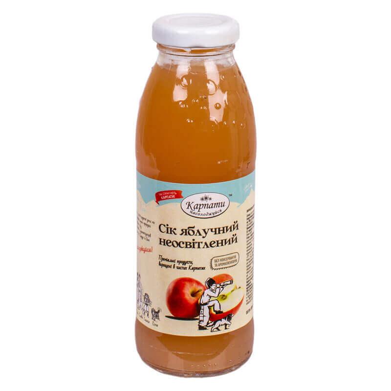 сок яблочный неосветленный тм карпати насолоджуйся 300мл