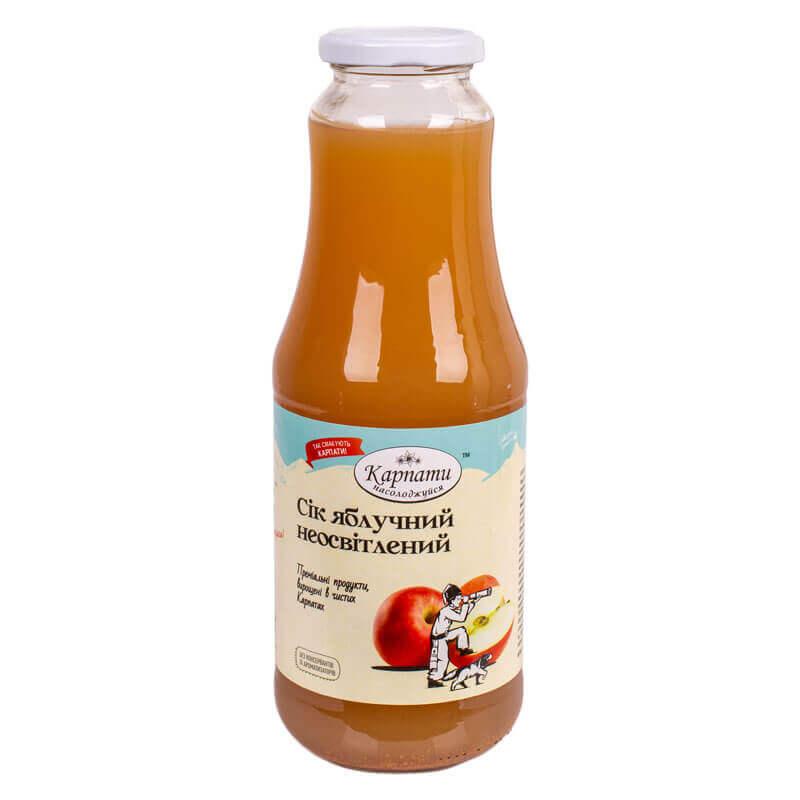 сок яблочный неосветленный тм карпати насолоджуйся 1л