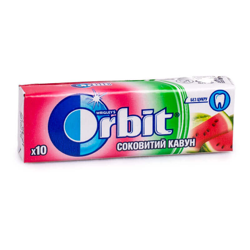 жевательная резинка orbit соковитий кавун 14г