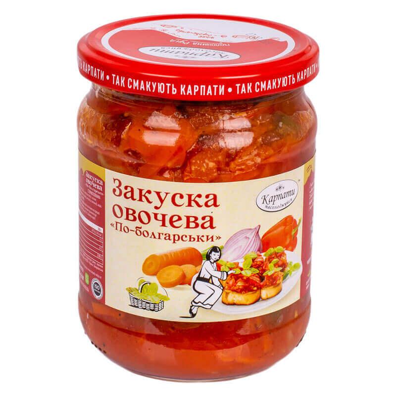закуска овощная по-болгарски карпати насолоджуйся 480г