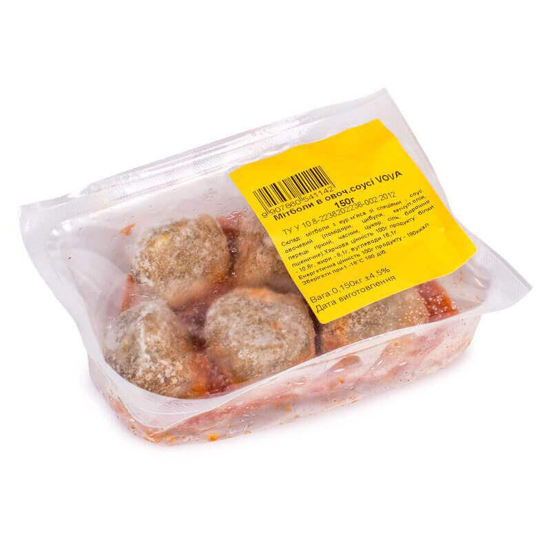 митболы из куриного мяса в овощном соусе vova 150г