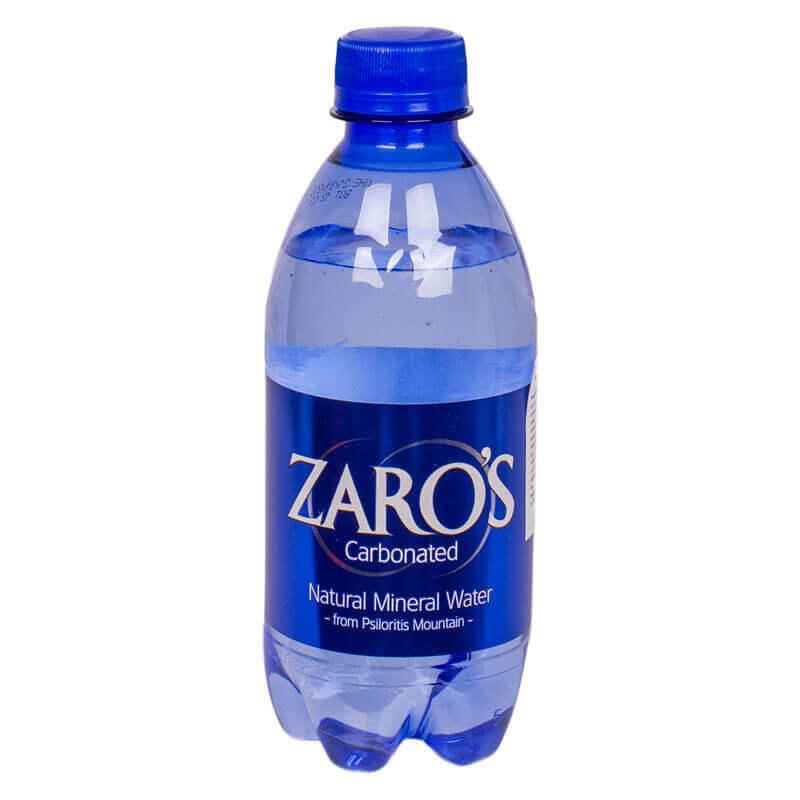 вода минеральная питьевая газированная тм zaro's 330мл