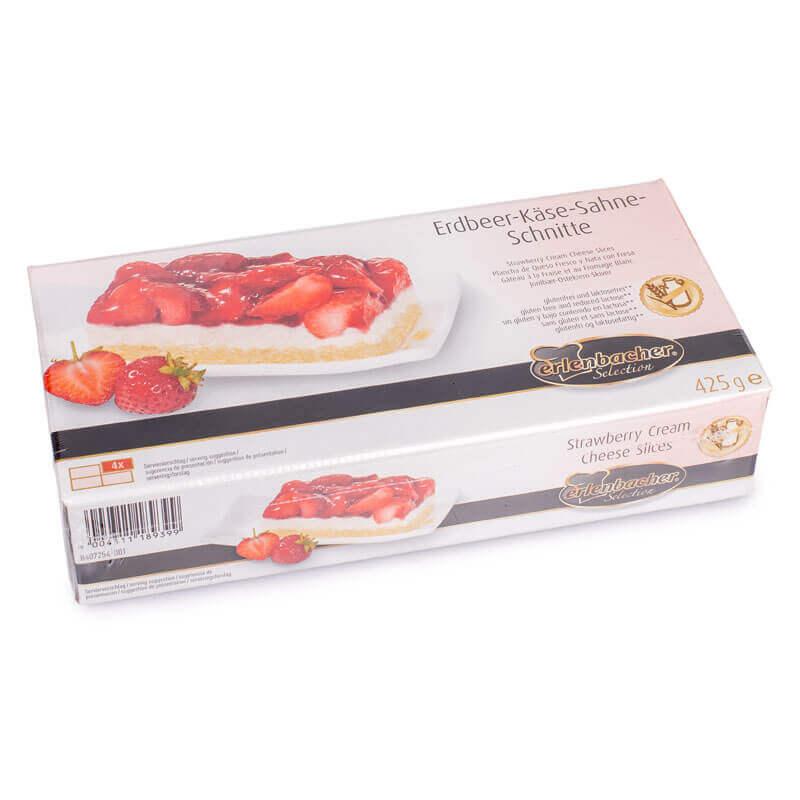 клубничный творожный торт без лактозы и глютена тм erlenbacher 425г
