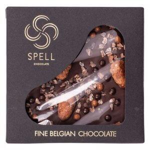 шоколад плитка темного шоколада с шоколадной карамелью тм spell 120г